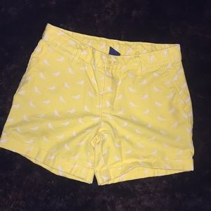 Gap girls 10 yellow shorts